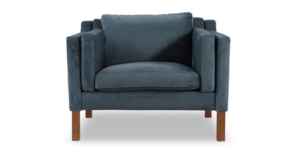 Monroe Chair, Neptune Velvet