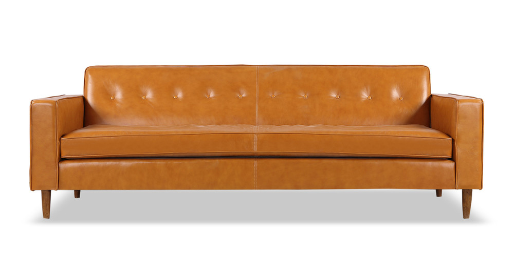 Eleanor Sofa, Tan Premium Leather