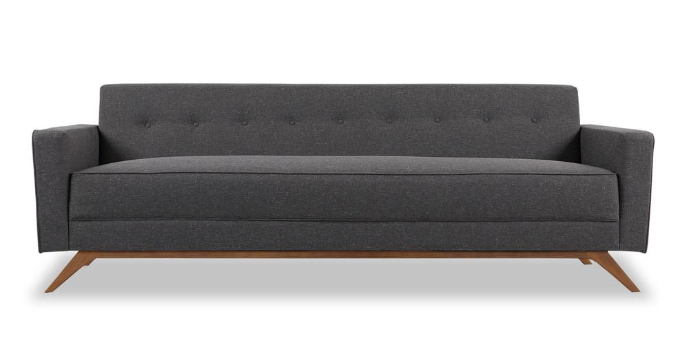 Bauhaus Modern Sofa, Shale