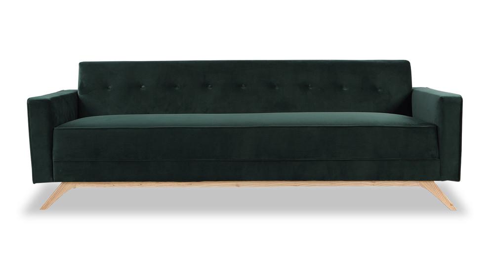 Bauhaus Modern Sofa, Jade
