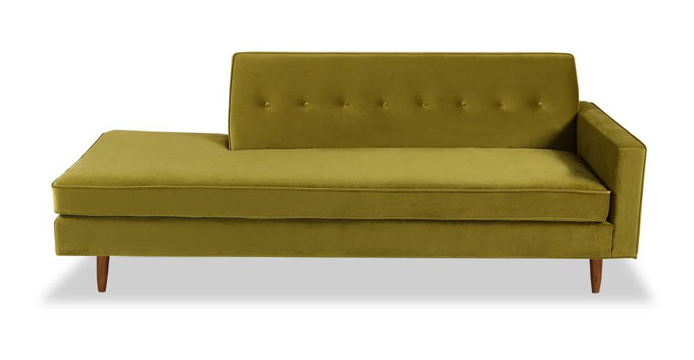 ... Eleanor Sofa Right, Olive Velvet