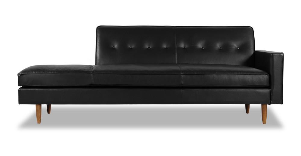 Eleanor Sofa Right, Black Premium Leather