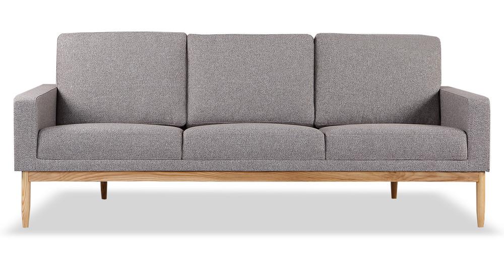 Stilt Danish Mod Sofa, Urban Pebble/Ash