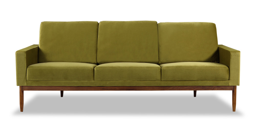Stilt Danish Mod Sofa, Olive/Walnut