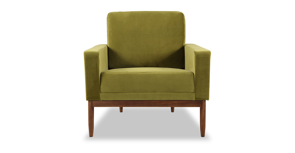 Stilt Danish Mod Chair, Olive/Walnut