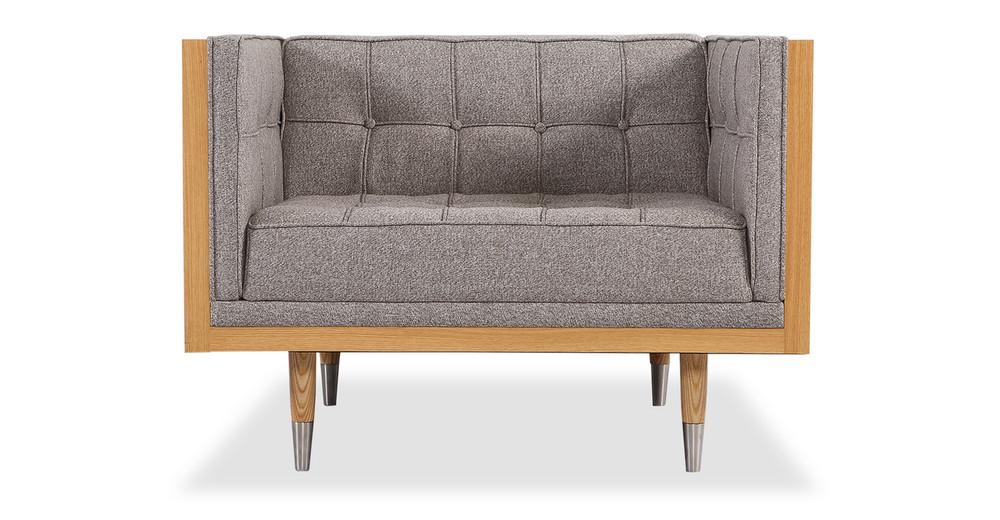 Woodrow Box Chair, Ash/Urban Pebble