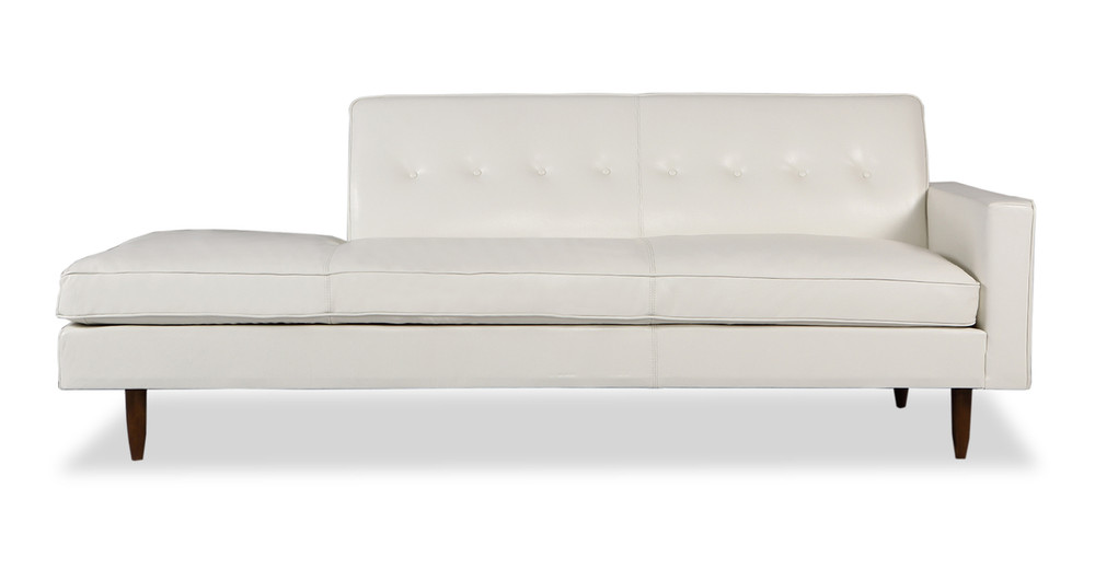 Eleanor Sofa Right, White Premium Leather