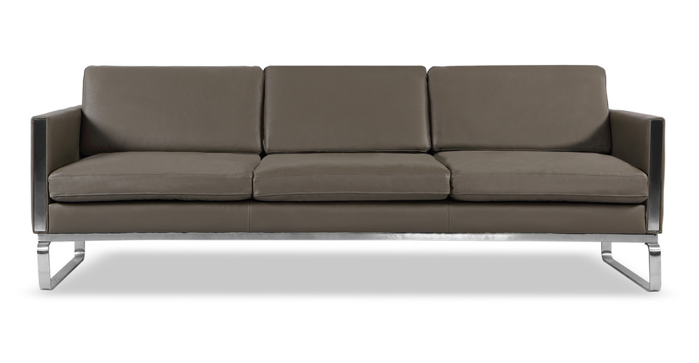 Amsterdam Sofa, Grey Aniline Leather