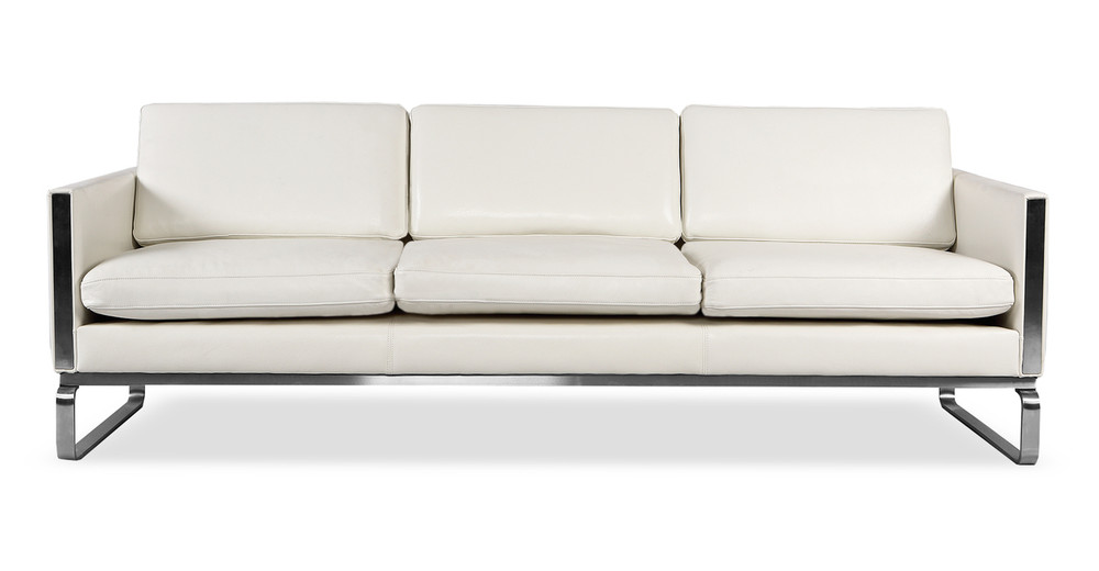 Amsterdam Sofa, White Aniline Leather