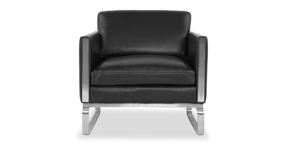 Amsterdam Chair, Black Aniline Leather