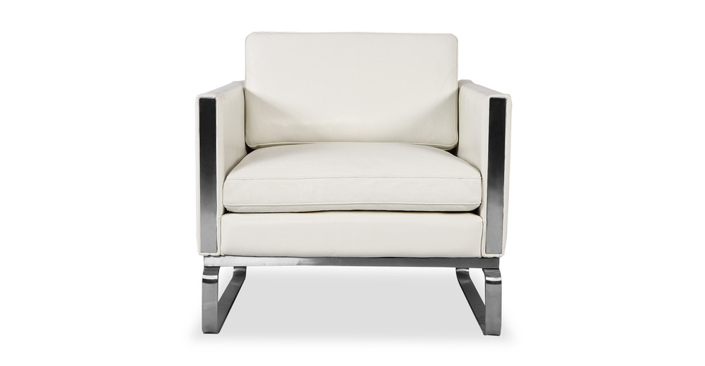 Amsterdam Chair, White Aniline Leather