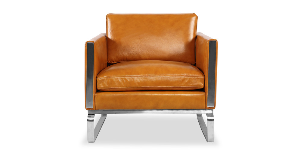 Amsterdam Chair, Tan Aniline Leather