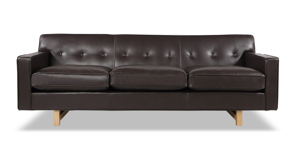 Kennedy Sofa, Brown Aniline Leather