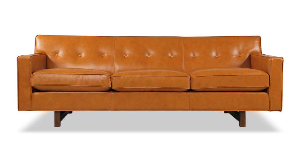Kennedy Sofa, Tan Aniline Leather
