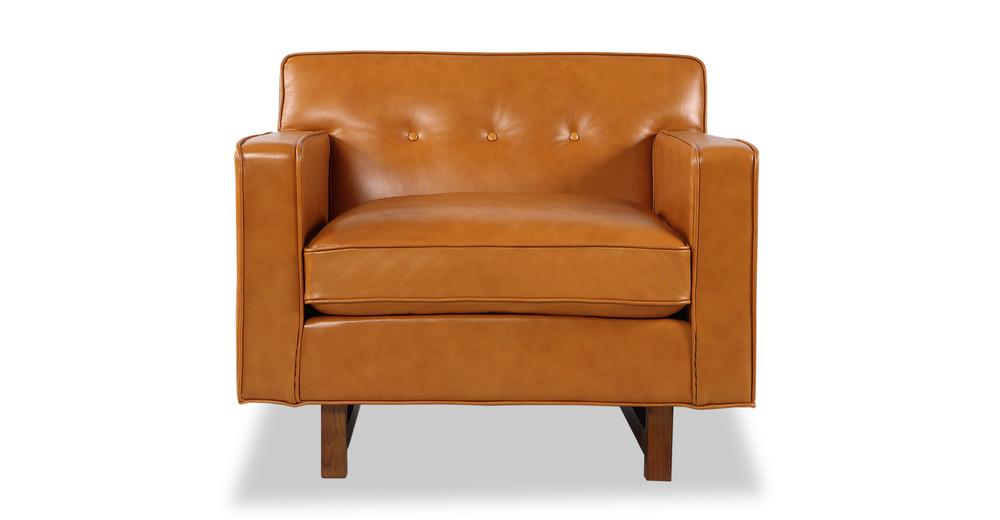 Kennedy Chair, Tan Aniline Leather