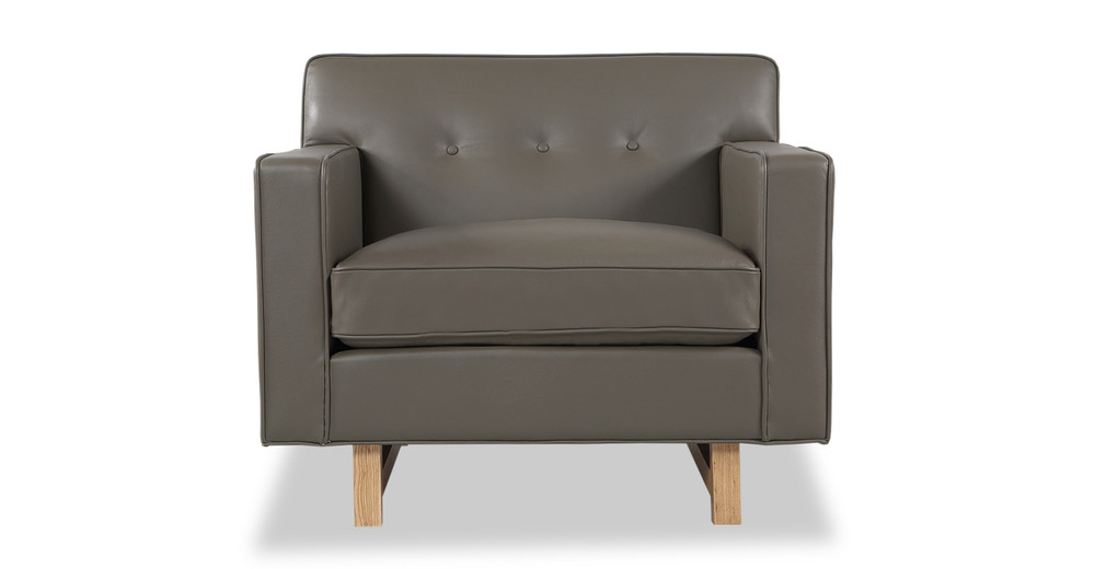 Kennedy Chair, Grey Aniline Leather
