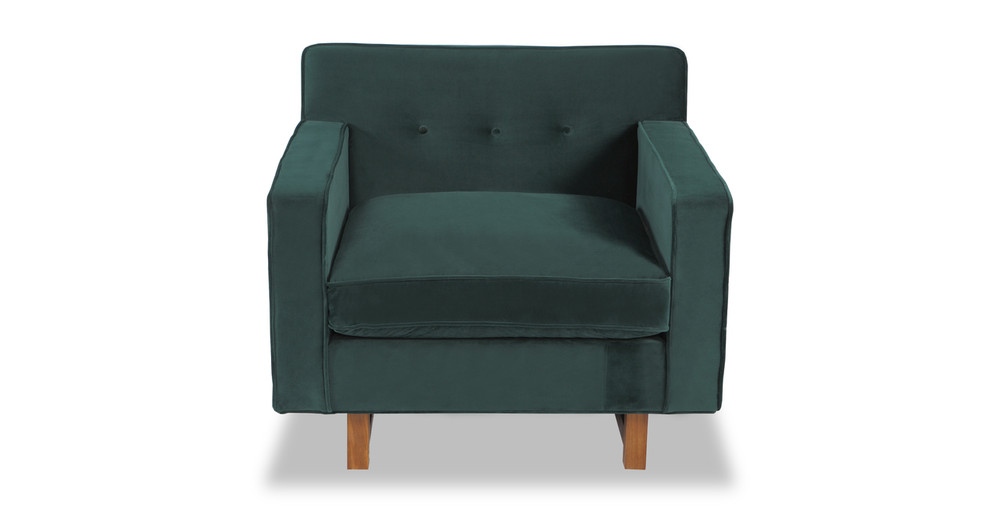 Kennedy Chair, Jade Plush