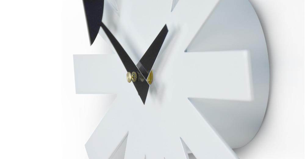 ... George Nelson Asterisk Clock, White ...