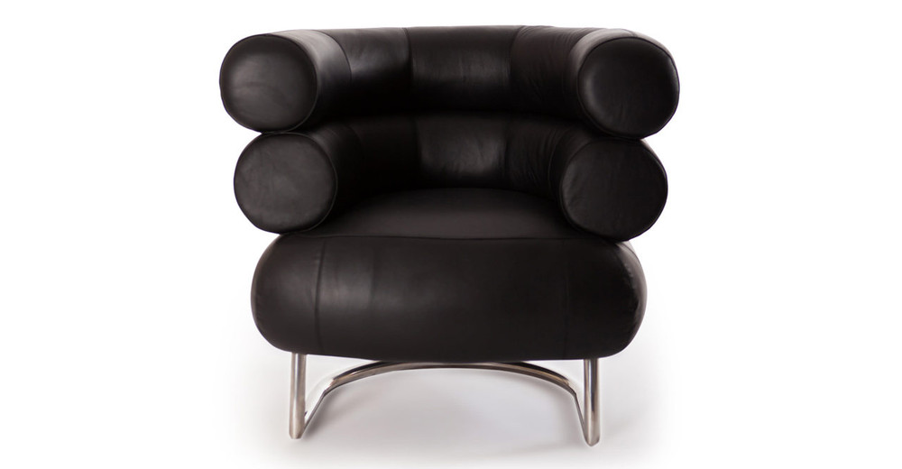 bibendum chair black aniline leather