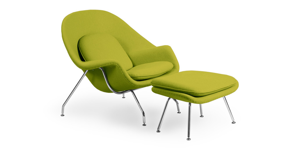 Womb Chair & Ottoman, Pear