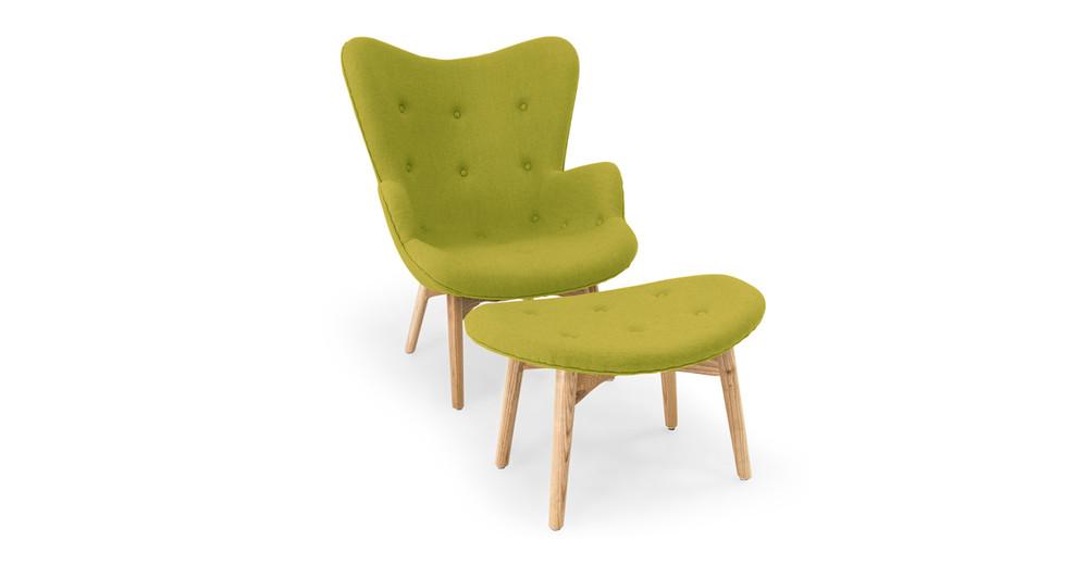 Contour Chair & Ottoman, Pear