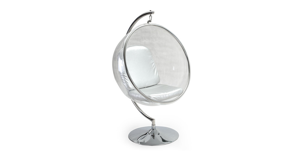 Bubble Chair With Frame, Silver