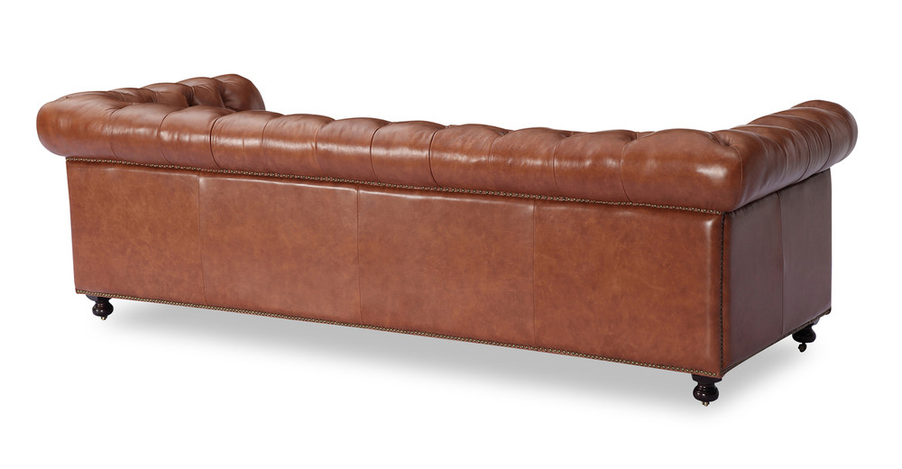 Chesterfield Sofa Cognac Vintage Distressed Leather