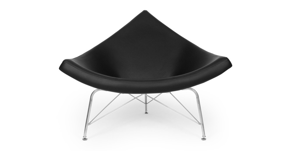 Coconut Chair, Black Premium Leather