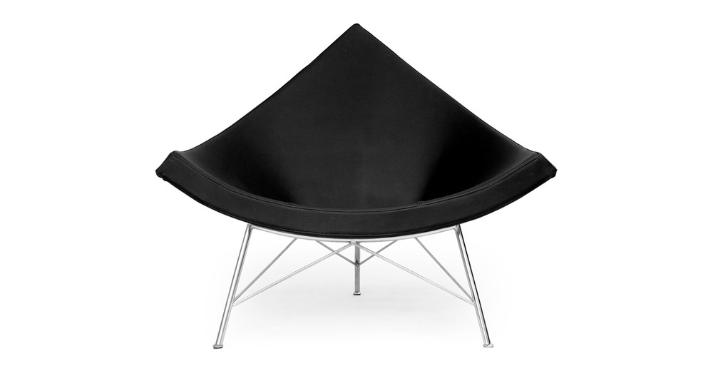 Coconut Chair, Black Leather
