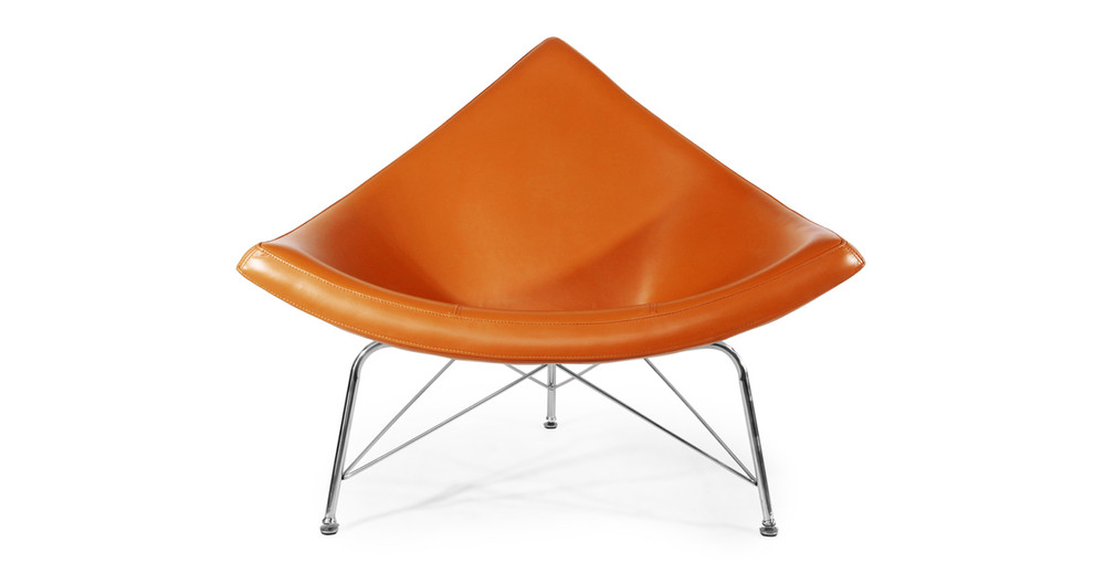 Coconut Chair, Caramel Premium Leather