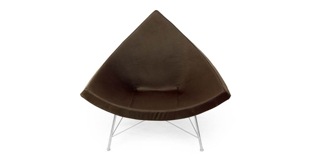 Coconut Chair, Espresso Leather