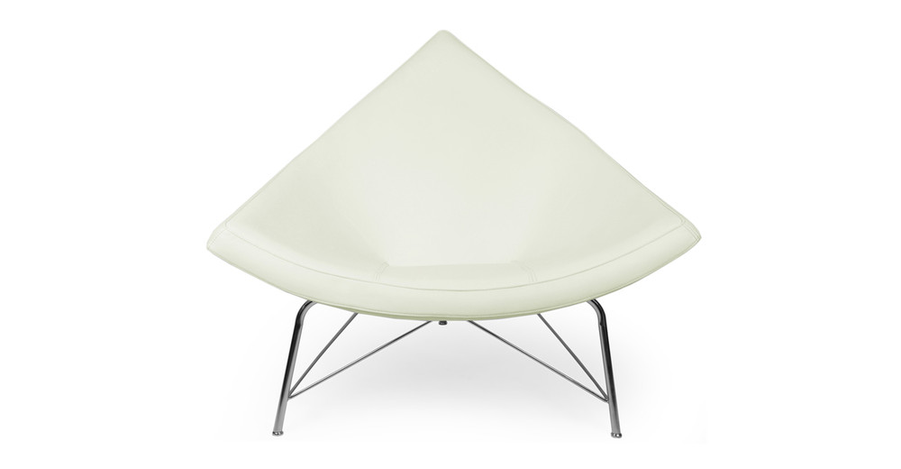 Coconut Chair, Akoya White Leather