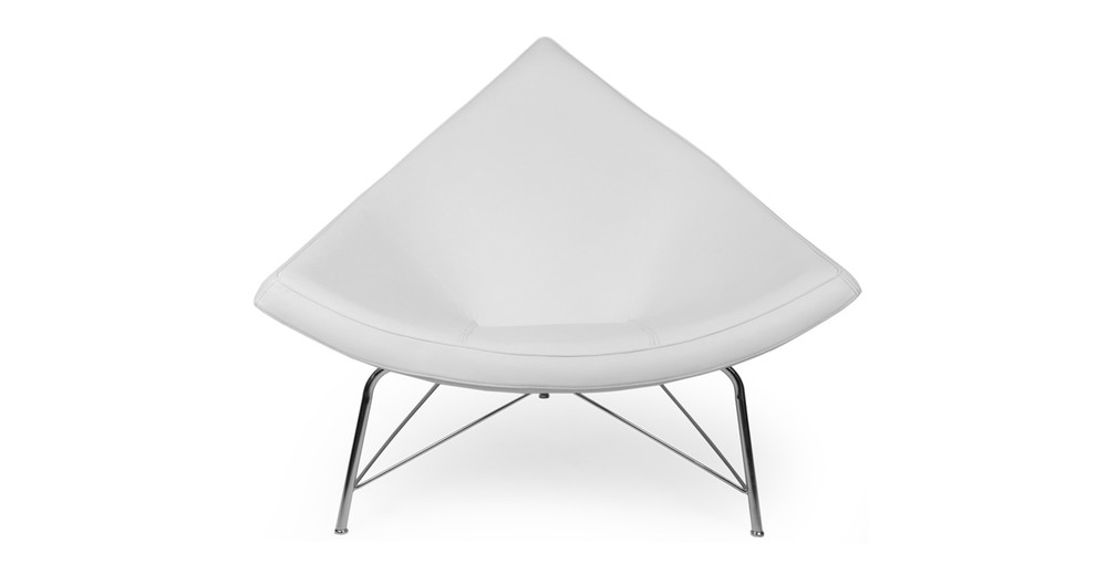 Coconut Chair, Cream White Premium Leather
