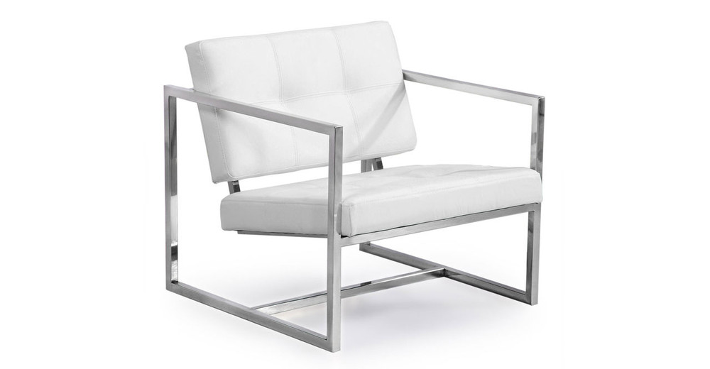 Cube Chair, Arctic White Premium Leather
