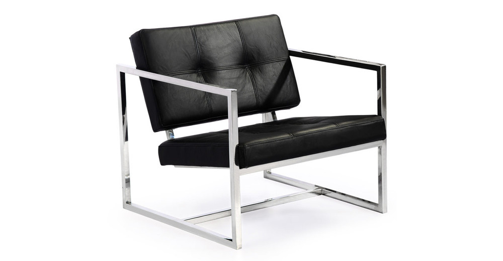 Cube Chair, Black Premium Leather
