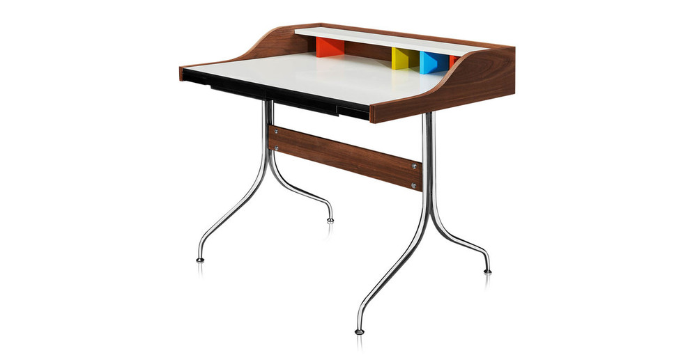 ... Swag Leg Desk, Walnut ...