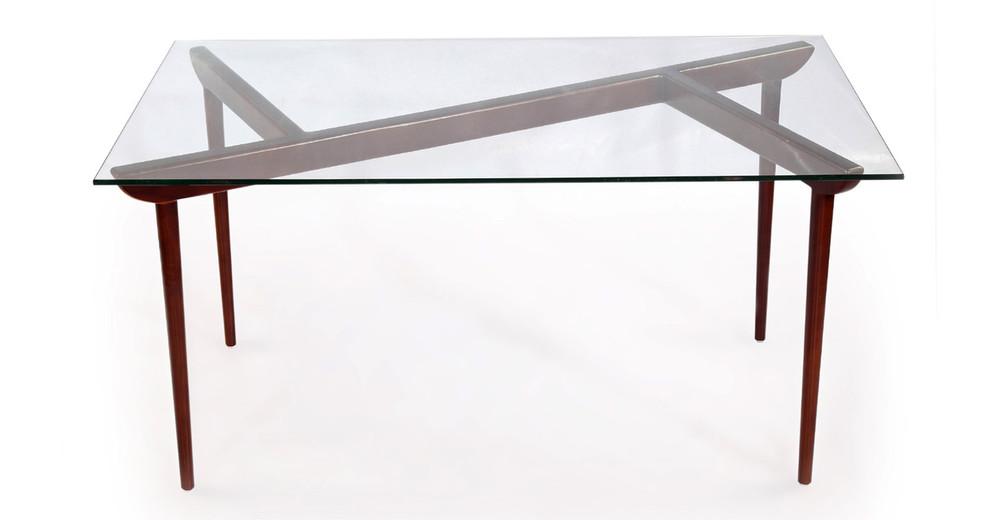 Deco Timber KO Dining Table, Walnut