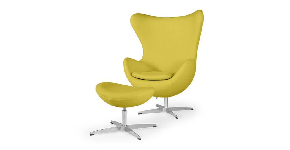 Amoeba Chair & Ottoman, Dijon