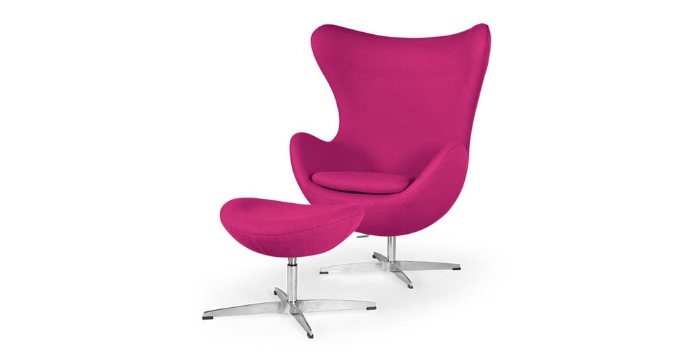 Amoeba Chair & Ottoman, Pom Fusion