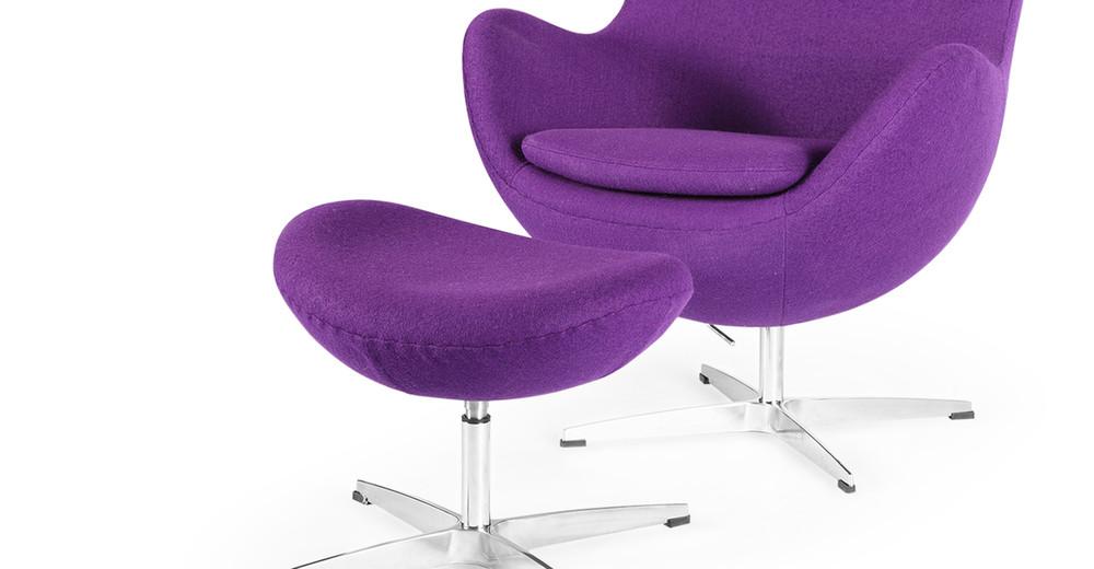 ... Amoeba Chair U0026 Ottoman, Purple ...