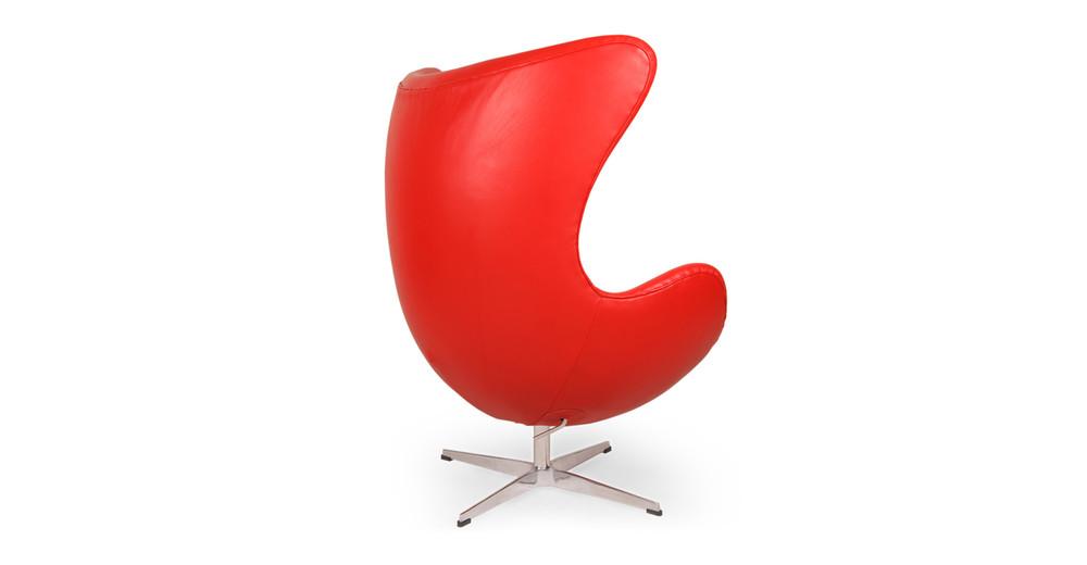 Amoeba Chair Red Premium Leather Kardiel