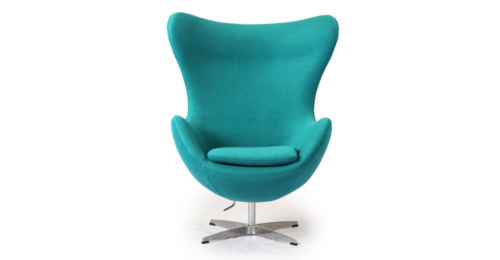 Amoeba Chair, Turquoise