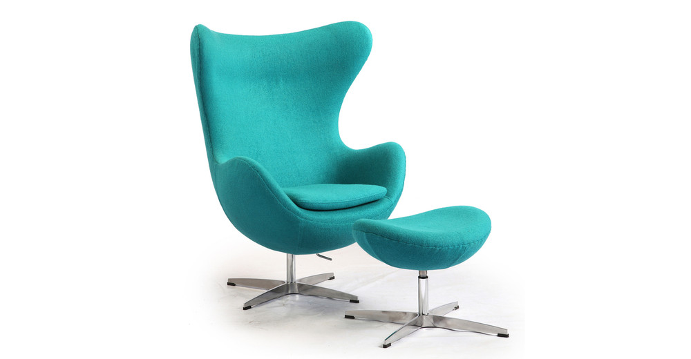 amoeba chair ottoman turquoise kardiel. Black Bedroom Furniture Sets. Home Design Ideas