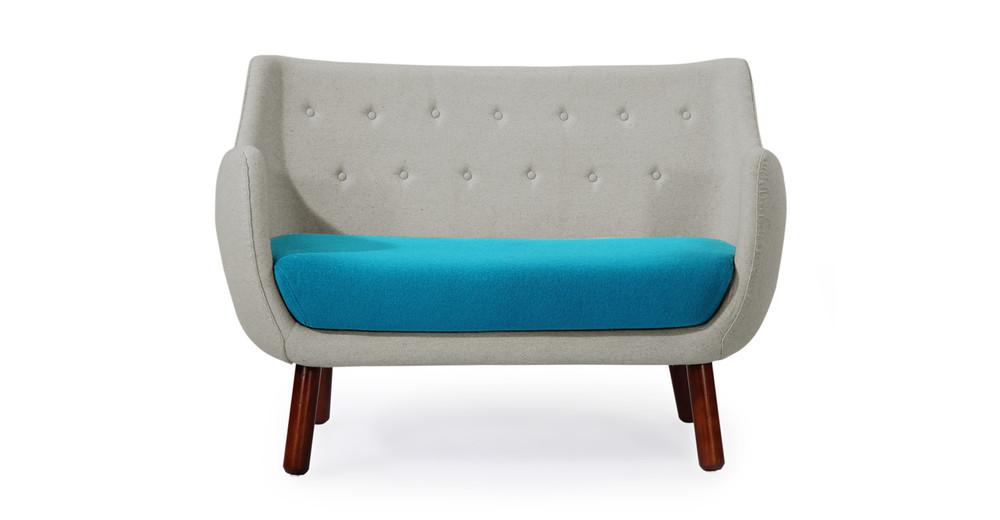 1946 Parlor Sofa, Heather / Teal