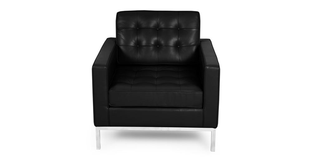Florence Chair, Black Premium Leather