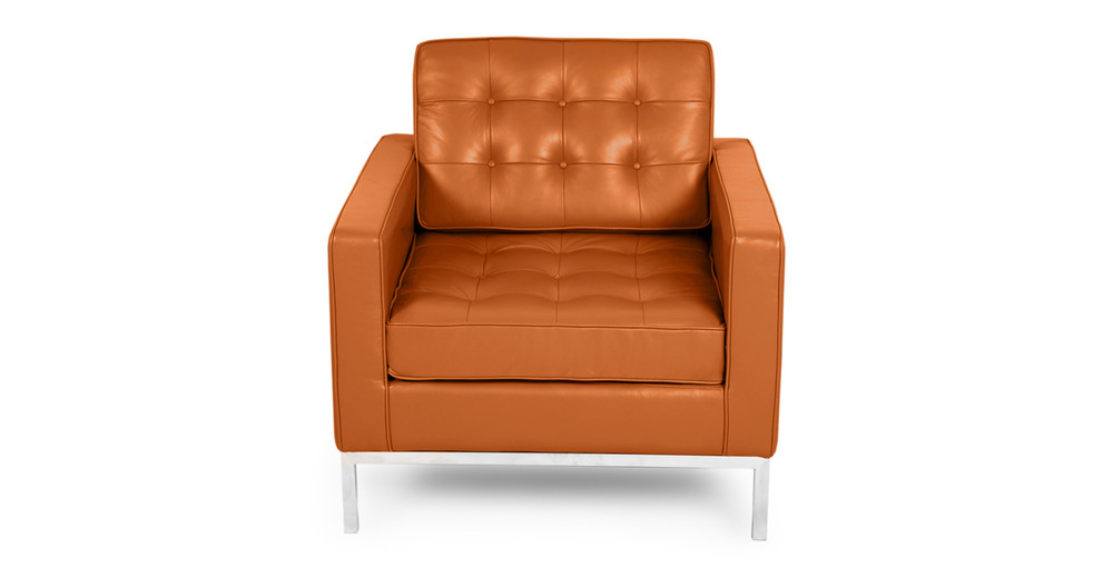 Florence Chair, Caramel Premium Leather