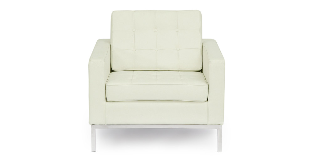 Florence Chair, Akoya White Leather