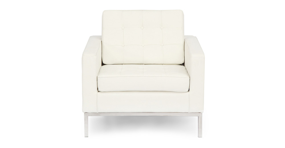 Florence Chair, Cream White Premium Leather
