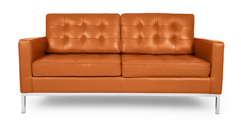 Florence Loveseat, Caramel Premium Leather