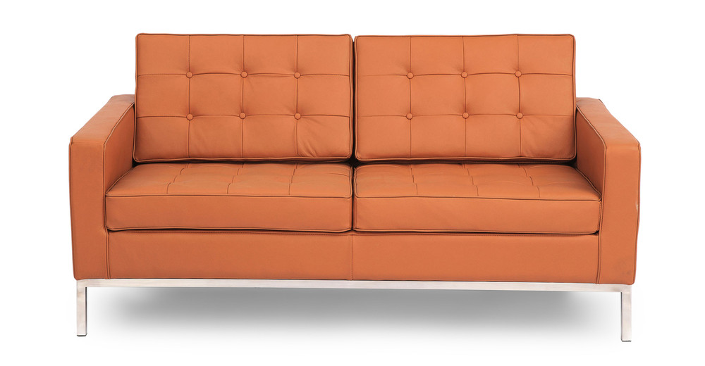 Florence Loveseat, Luxe Camel Leather
